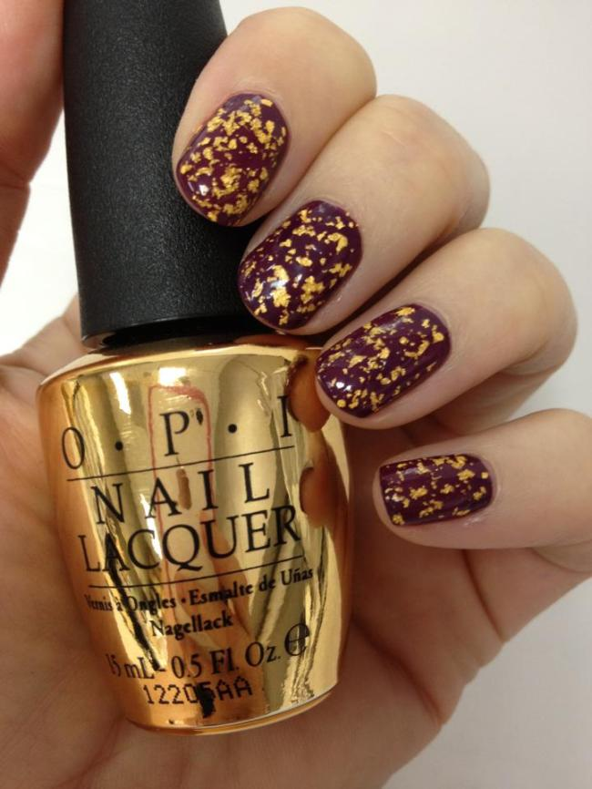 Gold Leaf Nail Polish Opi