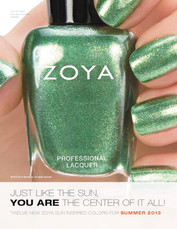 Zoya summer 2013 swatch