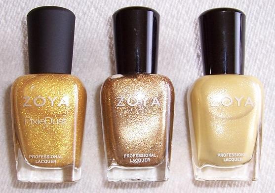 3 gold bottles