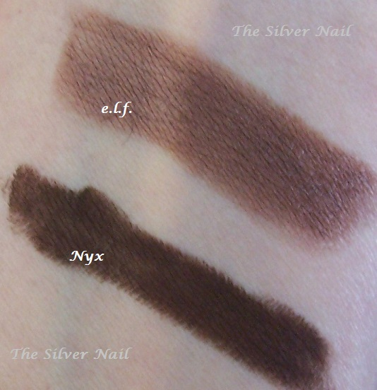 2 brown eye crayons swatch