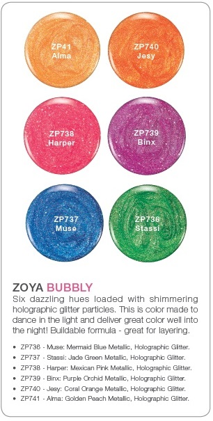 Zoya Bubbly six