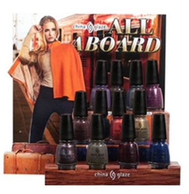China Glaze All Aboard display