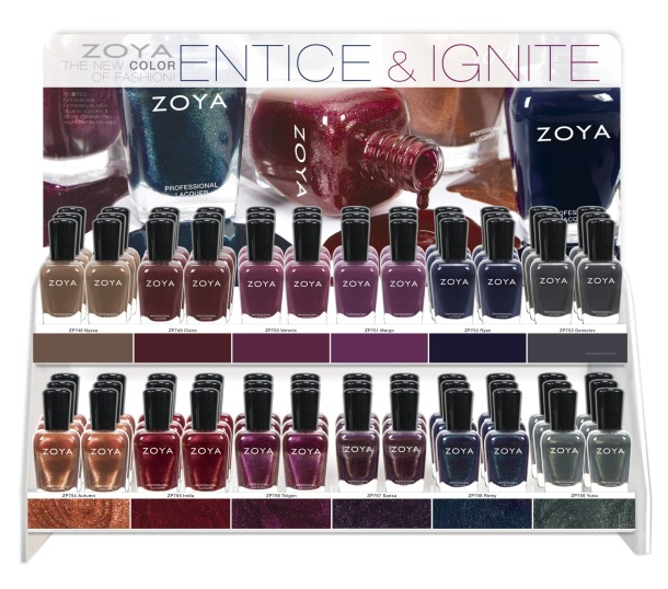 Zoya Entice Ignite display