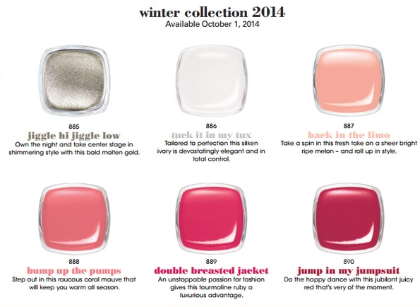 Essie winter 2014 colors