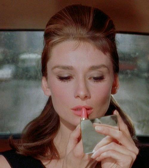 Audrey Hepburn pink lipstick