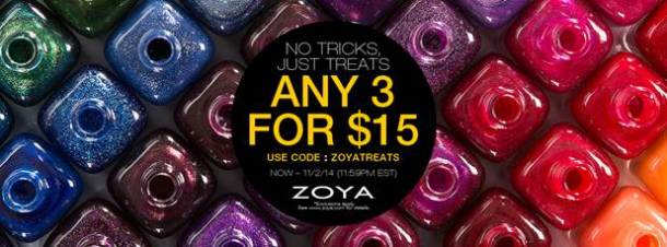 Zoya sale 3 for 15
