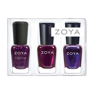 Zoya Holiday purple mini trio