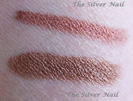 2 bronze swatches outd
