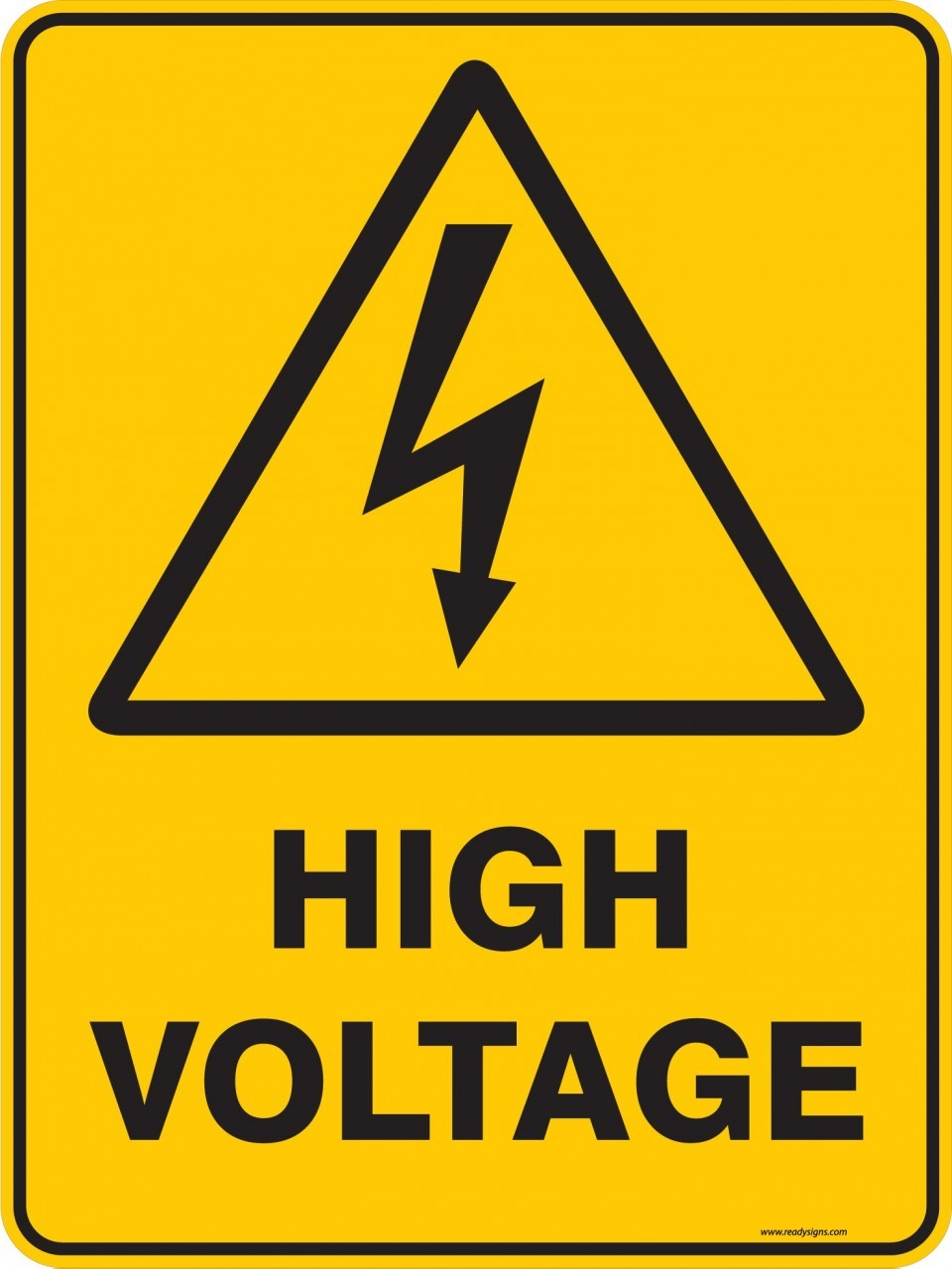 high voltage si... Sign