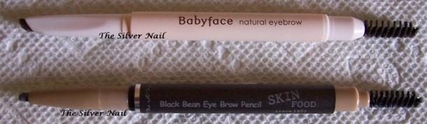 Eyebrow pencils open