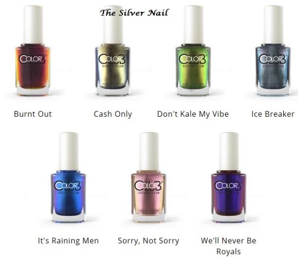 Color Club Oil Slick bottles