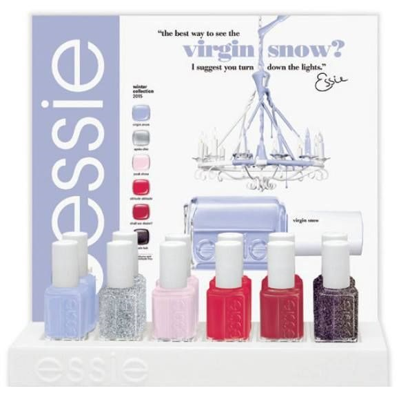 Essie Virgin Snow display