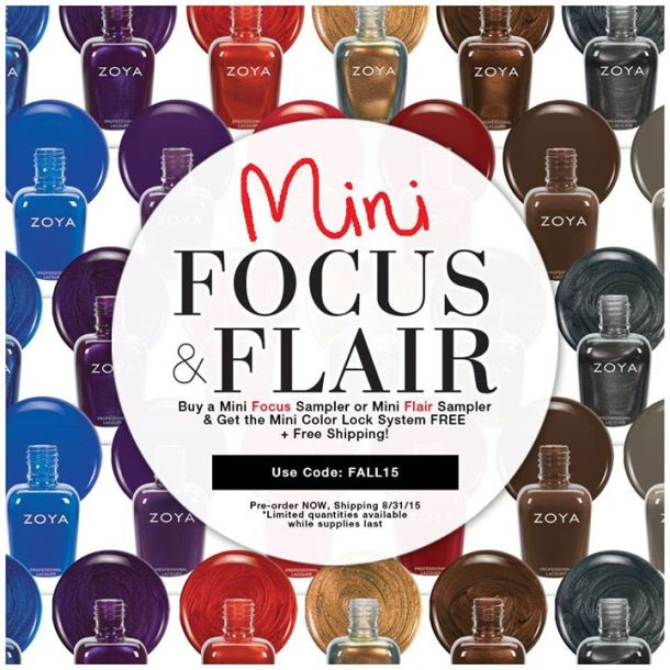 Zoya Flair Focus mini sets