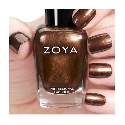 Zoya Focus & Flair Cinnamon mani